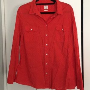Red button down shirt from GAP in XL
